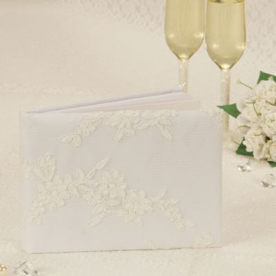Modern Lace Wedding Guest Book