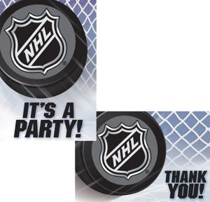 NHL Invitations & Thank You Notes for 8