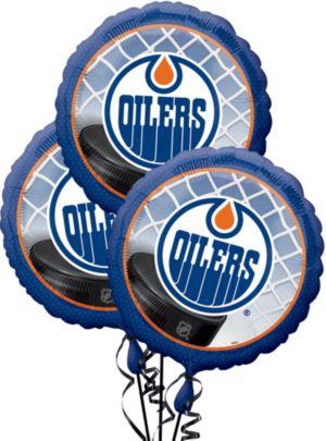 Edmonton Oilers Balloons 3ct