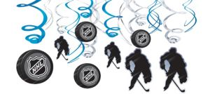 NHL Swirl Decorations 12ct