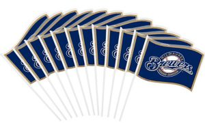 Milwaukee Brewers Mini Flags 12ct