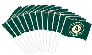 Oakland Athletics Mini Flags 12ct