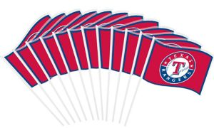 Texas Rangers Mini Flags 12ct