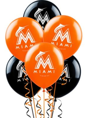 Miami Marlins Balloons 6ct