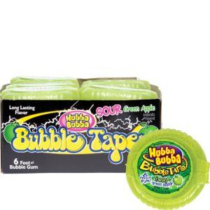 Hubba Bubba Sour Green Apple Bubble Tape Dispensers 12ct
