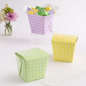 Polka Dot Pastel Baby Shower Favor Pail Assortment 12ct