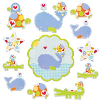 Ahoy Baby Boy Cutouts 12ct