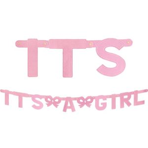 Large It's a Girl Baby Shower Banner 5ft