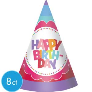 Girl Birthday Party Hats 8ct
