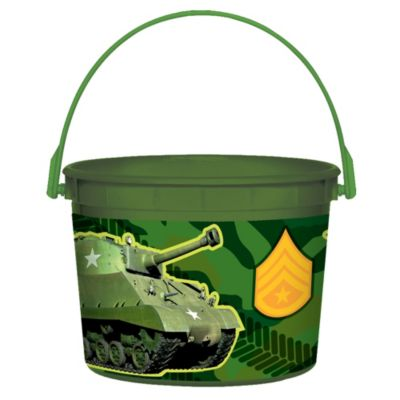 Camouflage Favor Container 4in
