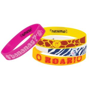 Jungle Animals Wristbands 4ct