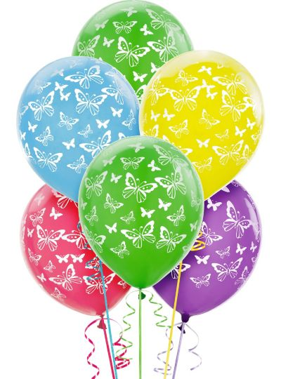 Butterfly Balloons 6ct