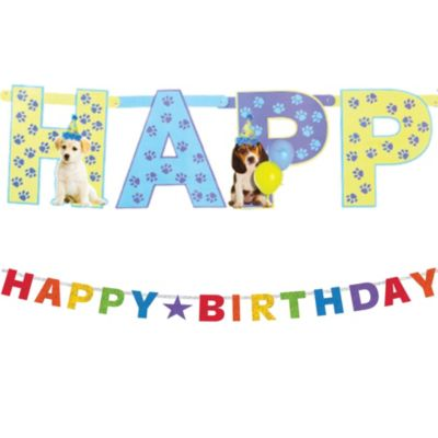 Party Pups Letter Banner 10ft