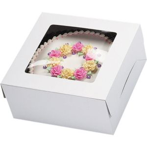 White Window Cake Box 16in x 16in