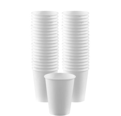 BOGO White Paper Coffee Cups 12oz 40ct
