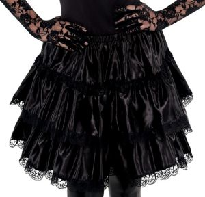 Adult Black Ruffled Skirt