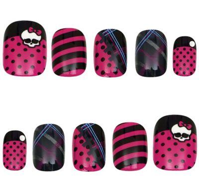 Monster High Skullette Nails