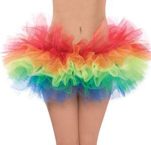 Adult Rainbow Organza Tutu