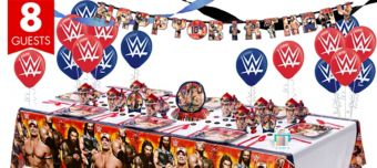 WWE Super Party Kit for 8 Guests