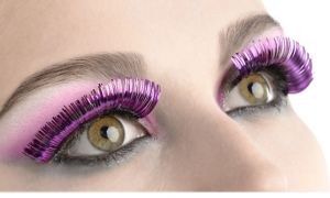 Self-Adhesive Purple Tinsel False Eyelashes
