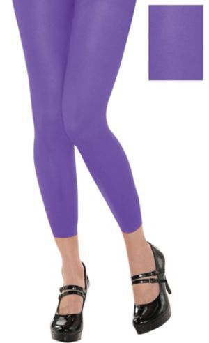 Footless Purple Tights