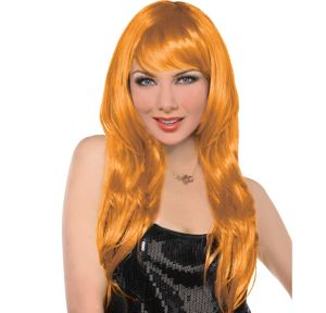 Glamorous Long Orange Wig