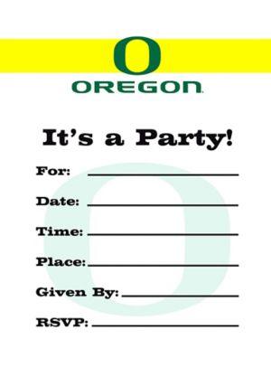 Oregon Ducks Invitations 8ct