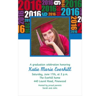 Custom Grad Year with Photo Invitations