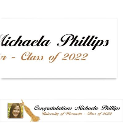 Grad Tassel with Image Custom Photo Banner