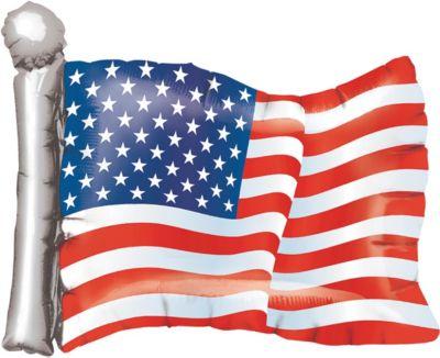 Patriotic American Flag Balloon