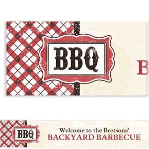 Custom It's BBQ Time Summer Banner 6ft