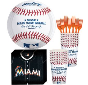 Miami Marlins Basic Party Kit for 16 Guests