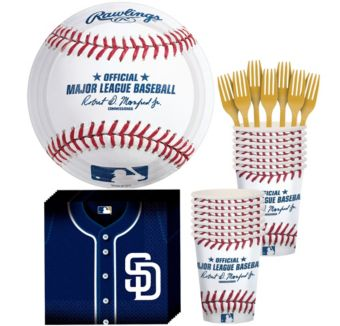 San Diego Padres Basic Party Kit for 16 Guests