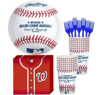 Washington Nationals Basic Party Kit for 16 Guests