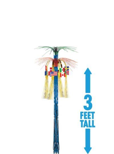 International Flag Cascade Hanging Column 3ft