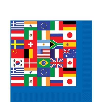 International Flag Lunch Napkins 16ct
