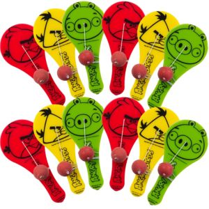 Angry Birds Paddle Balls 12ct