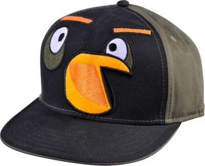 Black Angry Birds Baseball Hat