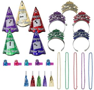 Kit For 10 - Colorful New Years Night New Year's Party Kit
