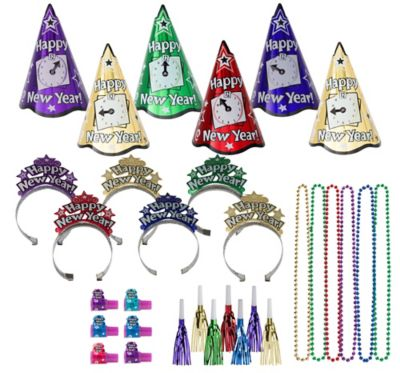 Kit For 25 - Midnight Countdown - Colorful New Year's Party Kit