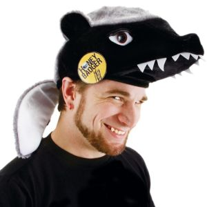Honey Badger Hat with Pin