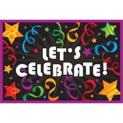 Horizontal Let's Celebrate Invitations 8ct