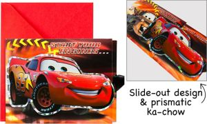 Large Cars Invitations 8ct