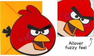 Angry Birds Furry Invitations 8ct