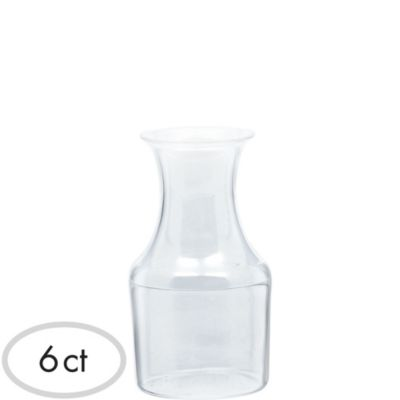 Mini CLEAR Plastic Wine Pitchers 6ct