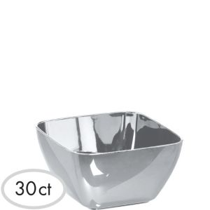 Mini Silver Finish Bowls 30ct