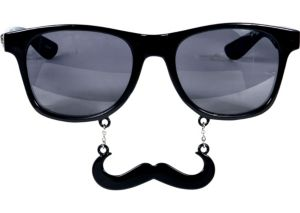 Black Handlebar Sun-Staches