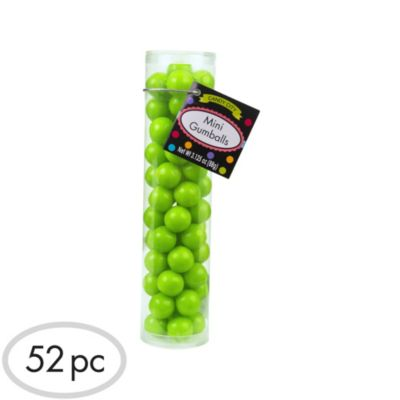 Kiwi Green Mini Gumballs 52pc