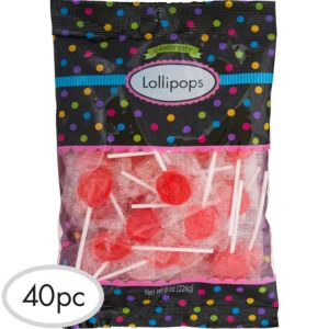 Red Lollipops 40pc