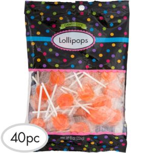 Orange Lollipops 48pc